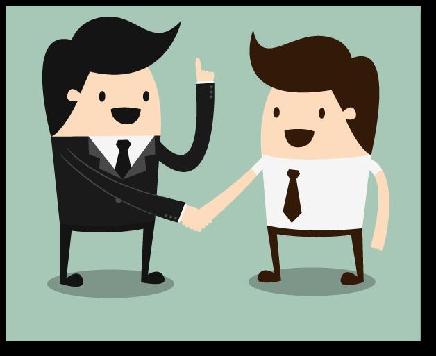 HR and Business Leader sharking hands